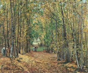 camille-pissarro-the-woods-at-marly-french-1871