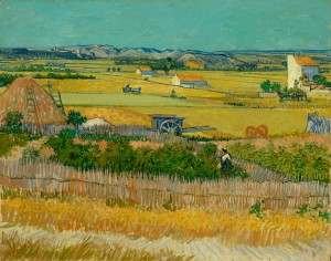 The harvest, 1888, Vincent van Gogh. Oil on canvas. Van Gogh Museum, Amsterdam