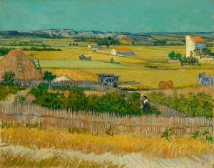 The harvest, 1888, Vincent van Gogh. Oil on canvas. Van Gogh Museum, Amsterdam