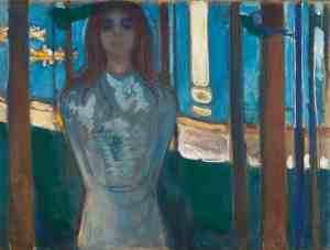 Summer Night. The Voice, 1896, Edvard Munch. Oil on unprimed canvas. Munch Museum, Oslo