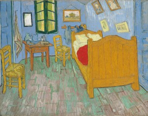The Bedroom, 1889. Vincent van Gogh. Oil on canvas. The Art Institute of Chicago Helen Birch Bartlett Memorial Collection