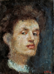 Self-portrait, 1886, Edvard Munch.  Oil on canvas. National Museum of Art, Architecture and Design, Oslo
