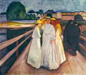 The Ladies on the Bridge, 1903, Edvard Munch. Oil on canvas. Thielska Galleriet, Stockholm