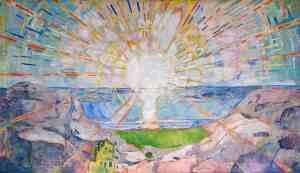 The Sun, 1911, Edvard Munch. Oil on canvas. Universitetet i Oslo, Aulaen
