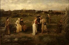 Godspeed! Pilgrims setting out for Canterbury, 1874, George Henry Boughton. Oil on Canvas. Van Gogh Museum, Amsterdam