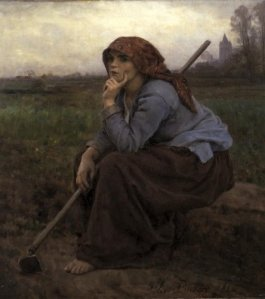 Young Peasant Girl with a Hoe, 1882, Jules Breton. Oil on canvas. Van Gogh Museum, Amsterdam