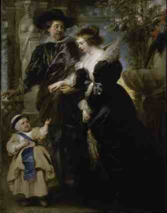 Rubens, His Wife and Their Son, Ca.1635, Peter Paul Rubens. Oil on canvas. The Metropolitan Museum of Art, New York.