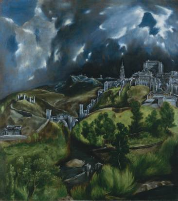 View of Toledo, 1596-1600, El Greco. Oil on canvas. The Metropolitan Museum of Art, New York.