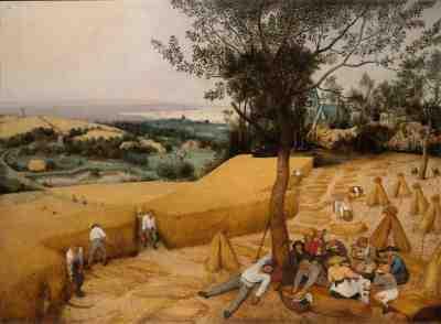 The Harvesters, 1565, Pieter Bruegel the Elder. Oil on wood. The Metropolitan Museum of Art, New York.