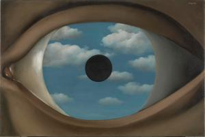 René Magritte Le faux miroir (The False Mirror). René Magritte, 1929. Oil on canvas. The Museum of Modern Art, New York.