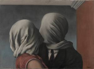 Les amants (The Lovers), 1928, René Magritte. Oil on canvas. Museum of Modern Art, New York