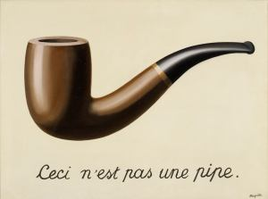 La trahison des images (Ceci n'est pas une pipe) (The Treachery of Images [This is Not a Pipe]), 1929, René Magritte. Oil on canvas. Los Angeles County Museum of Art, Los Angeles, California