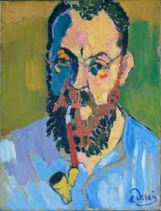 Henri Matisse, 1905, André Derain. Oil on canvas. Tate, London.