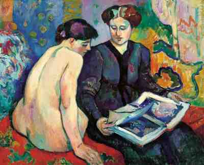 The Prints, 1905, Henri Manguin. Oil on canvas. Madrid, Museum Thyssen-Bornemisza.