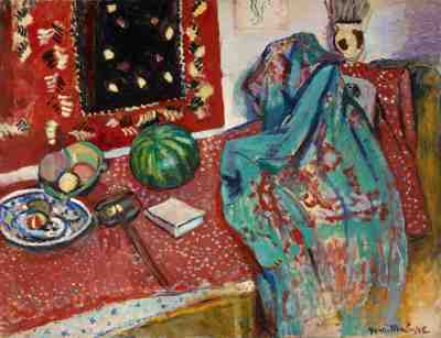 Still Life with Red Carpet, 1906, Henri Matisse. Oil on canvas. Musée de Peinture et Sculpture, Grenoble.