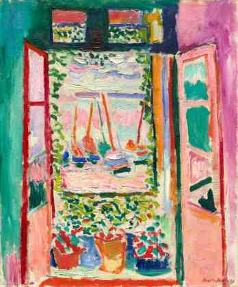 The Open Window, 1905, Henri Matisse. Oil on canvas. National Gallery of Art, Washington, Collection of Mr. and Mrs. John Hay Whitney