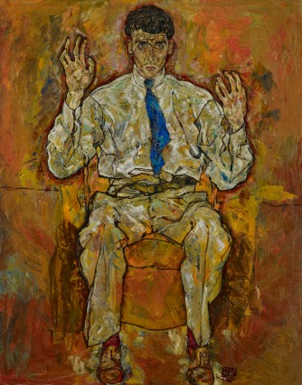 ortrait of Albert Paris von Gütersloh, 1918, Egon Schiele. Oil on canvas. © The Minneapolis Institute of Arts, Minnesota Gift of the P. D McMillan Land Company.