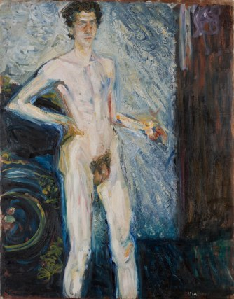 Nude Self-Portrait with Palette, 1908, Richard Gerstl. Oil on canvas. © Leopold Museum Private Foundation, Vienna.