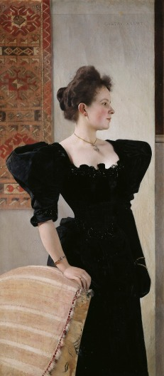 Portrait of a Lady in Black, about 1894, Gustav Klimt. Oil on canvas. Belvedere, Vienna, Loan from a private collection © Belvedere, Vienna.