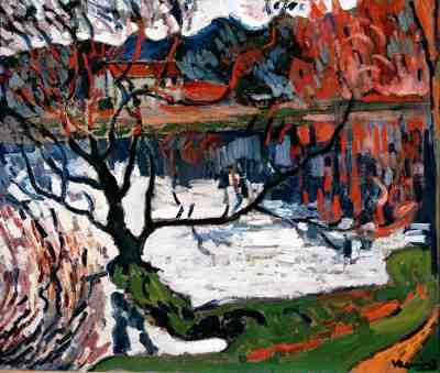 Pond at Ursine near Chaville, 1905, Maurice de Vlaminck. Oil on canvas. Collection Triton Foundation, The Netherlands.
