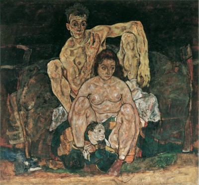 The Family (Self Portrait), 1918, Egon Schiele. Oil on canvas. © Belvedere, Vienna.