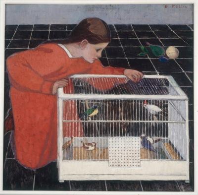 Silvia Koller with a Bird Cage, 1907-8, Broncia Koller. Oil on canvas. © Eisenberger Collection, Vienna.