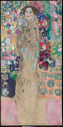Posthumous Portrait of Ria Munk III, 1917-18, Gustav Klimt. Oil on canvas. © Property of The Lewis Collection
