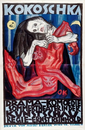 'Pietà'. Poster for the play Murderer, the Hope of Women at the Inernationale Kunstschau 1909.
