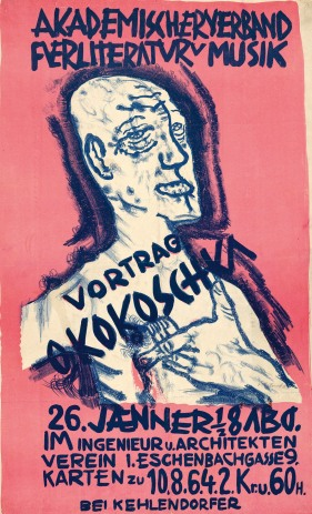 Poster para una conferencia en la 'Asociación Académica para la Literatura y la Música', 1911.