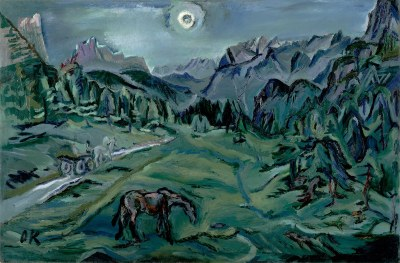 Tre Croci - Dolomite Landscape, 1913, Oskar Kokoschka. Oil on canvas. Leopold Museum, Vienna.