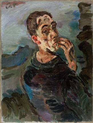 Self-Portrait, One Hand Touching the Face, 1918/19, Oskar Kokoschka. Oil on canvas. Leopold Museum, Vienna.